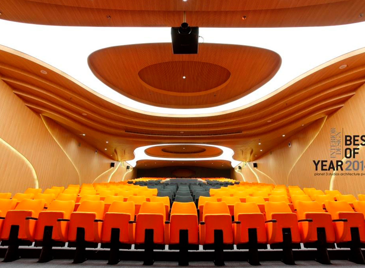 Vidyalankar - Stretch Ceiling Translucent with Backlighting in auditorium - Auditorium