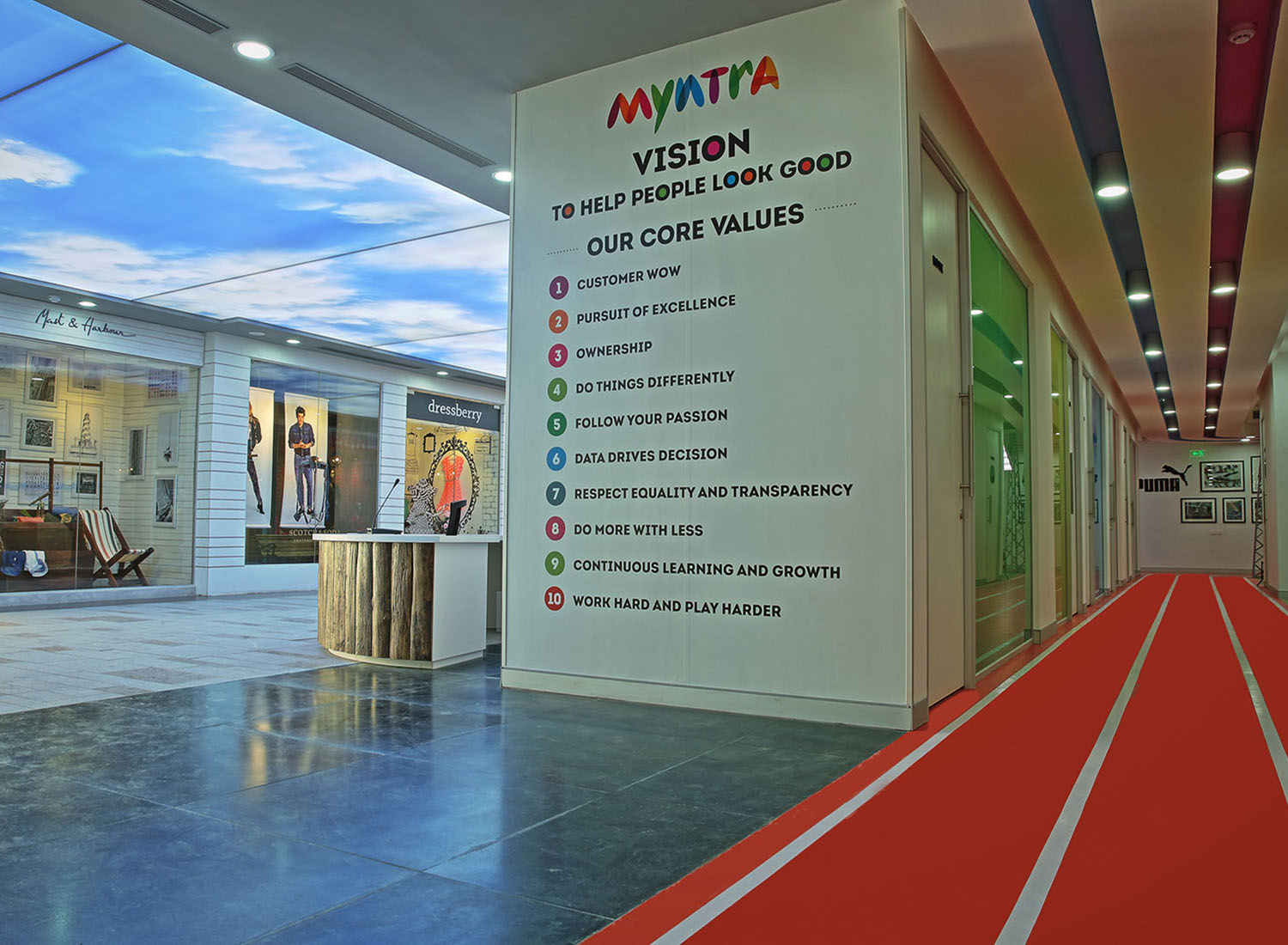 Myntra - Stretch Ceiling Printed Translucent with Backlighting in Corporate - Corporate - Bangalore