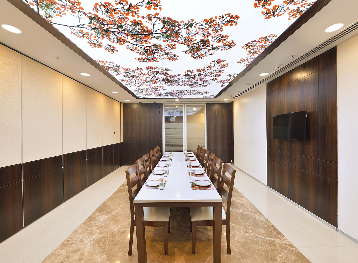 TCS - 3d Stretch Ceiling Translucent with Backlighting in Corporate - Corporate - Noida