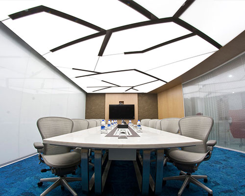 TEC - Stretch Ceiling  Translucent with Backlighting in Corporate - Corporate