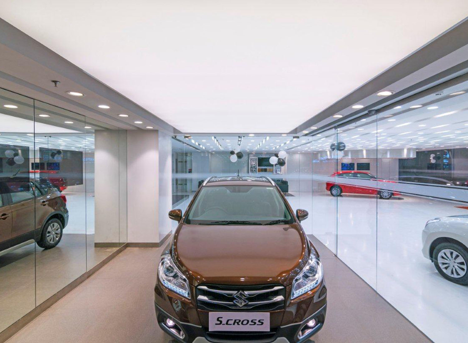 Maruti - Stretch Ceiling  Translucent in Showroom - Showroom
