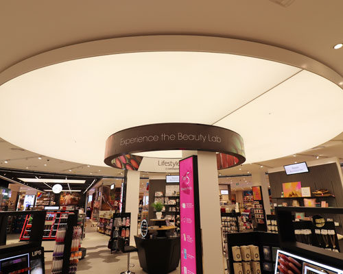 Stretch ceiling White Translucent with Backlighting in centerpoint oasis mall